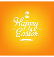 Happy easter orange card vector