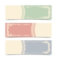 Blank decorative banners vector