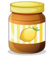 A bottle of lemon jam vector