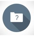 Unknown folder icon vector
