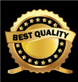 Gold label best quality vector