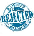 Rejected rubber stamp vector