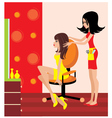 Woman in a beauty salon vector