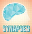 Abstract human brain synapses vector
