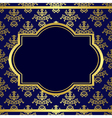 Dark blue background with center gold frame vector