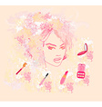 Make-up girl - poster vector