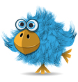 Very funny blue bird vector
