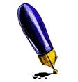 Ink pen cartoon vector