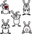 Bunny icons vector