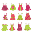 Baby girl dress collection vector