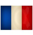Vintage france flag vector