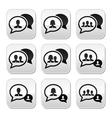 Business meeting communication buttons set vector