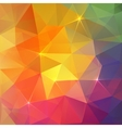 Abstract triangles ice colorful background vector