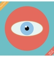Eye icon -  flat design vector