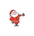 Santa claus father christmas thumbs up cartoon vector