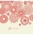 Floral line work vector