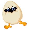 Little chicken cartoon in egg vector