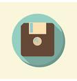 Flat web icon floppy diskette vector