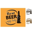Best beer - enjoy tasty - poster vector