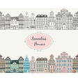 Seamless old styled houses vector