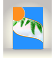 Business brochure template tropical background vector