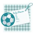 Soccer baby shower invite card vector