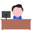 Businessman sitting behind desk vector