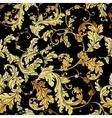 Luxury vintage golden seamless background vector