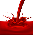 Red paint splashing vector
