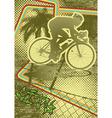 Vintage urban grunge cyclist vector
