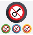 Do not open key sign icon unlock tool symbol vector