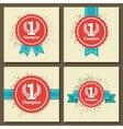 Flat design award signs vector