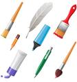 Writing tools set vector
