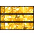 Gold textured banner vector