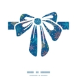 Colorful doodle snowflakes gift bow silhouette vector