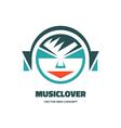 Music lover - logo concept vector