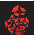Heart flowers vector