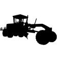 Motor road grader silhouette vector