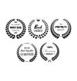 Set of premium and best laurel wreaths vector