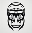 Gorilla face tribal vector