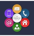 Set of contact and communication icons vector