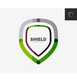 Minimal line design logo shield icon vector