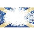 Scottish flag grunge background vector