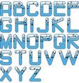 Alphabet music glossy blue vector
