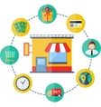 Modern flat shopping infographics vector