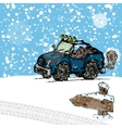 Winter suv sketch vector