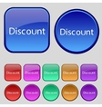 Discount sign icon sale symbol special offer label vector