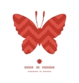 Colorful ikat chevron butterfly silhouette pattern vector