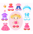 Paper doll with vector