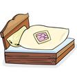 Bed furniture cartoon vector